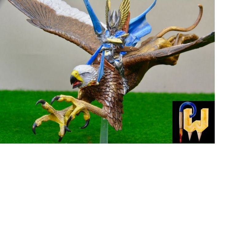 Warhammer Army Age of Sigmar AOS High Elf Elves Lord On Griffon Painted