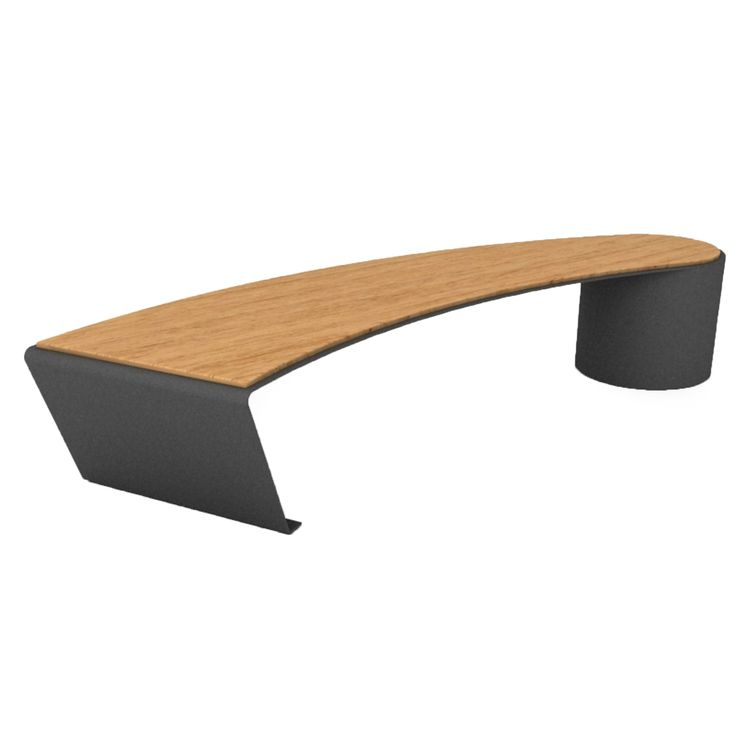 Benedict C2 bench #basiccollection #bench #outdoor #painted #steel #wooden