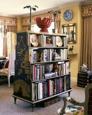 double sided book case as room divider