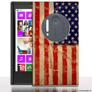 Coque Nokia 1020 USA - Accessoire drapeau des Etats Unis pour Nokia. #Drapeau #USA #Nokia #1020 #Coque #flag #case #cover