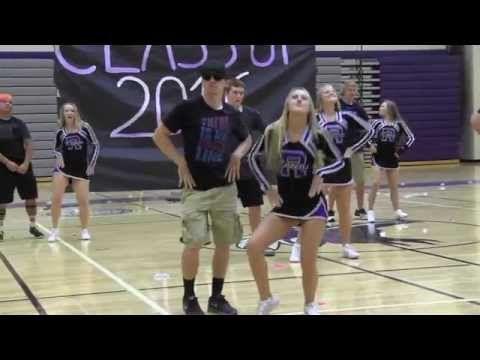 Football and Cheer Dance 2015 - YouTube
