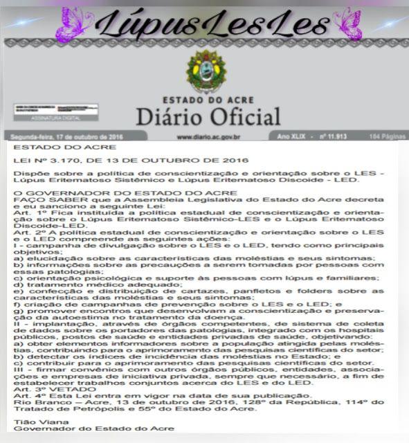 Lúpuslesles: Acre sanciona lei de política para conscientização...