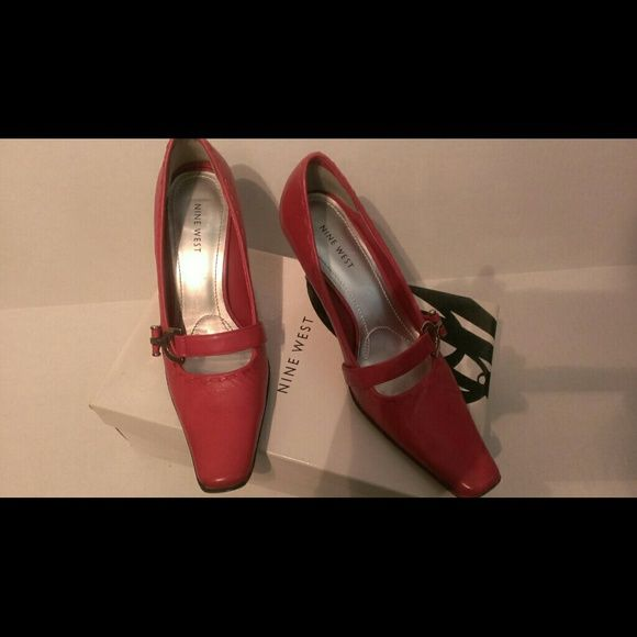 Nine  West Cosabella pumps Red Nine West long toe pumps soft plush leather Nine West Shoes Heels