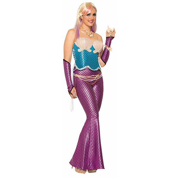 Mermaid Seashell Corset in Blue