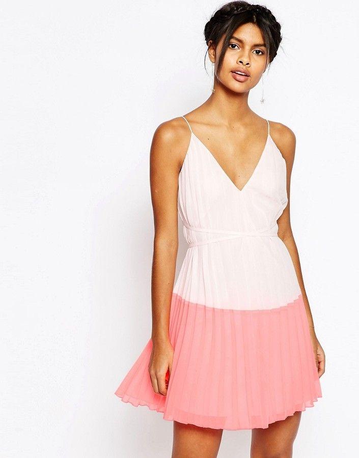 ASOS COLLECTION ASOS Color Block Mini Dress