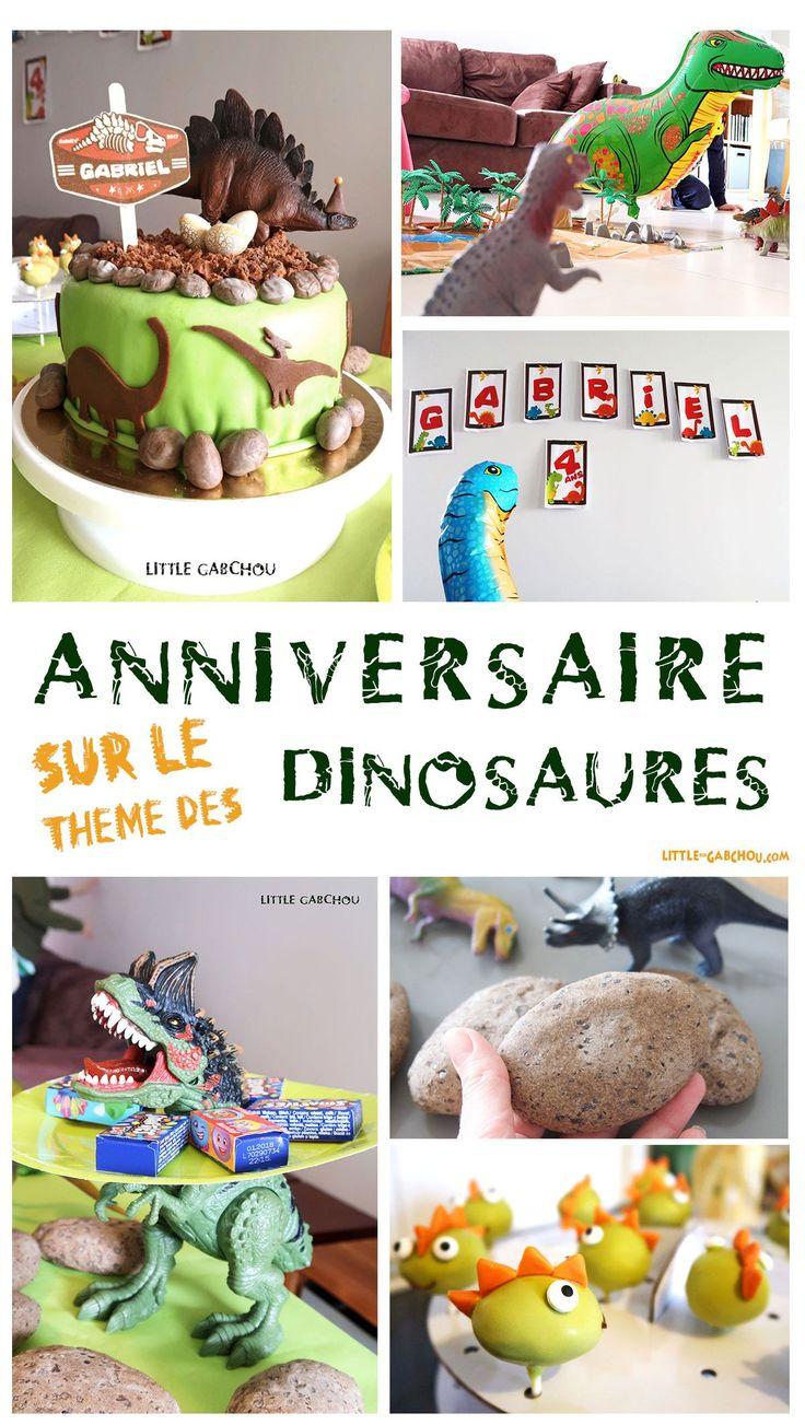anniversaire petit garçon sur le thème des dinosaures