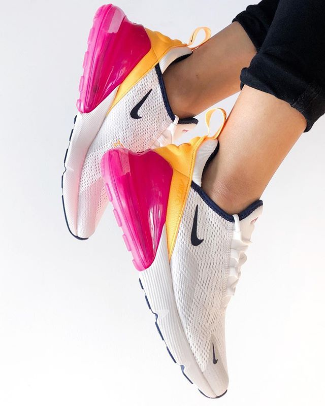 Nike Air Max 270 - Sneakers - White Navy Yellow Red   Nike ...