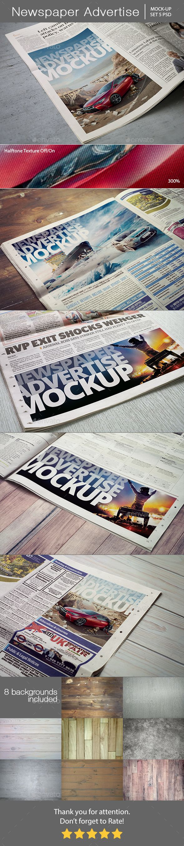Newspaper Advertise Mockup #design Download: http://graphicriver.net/item/newspaper-advertise-mockup/13345143?ref=ksioks