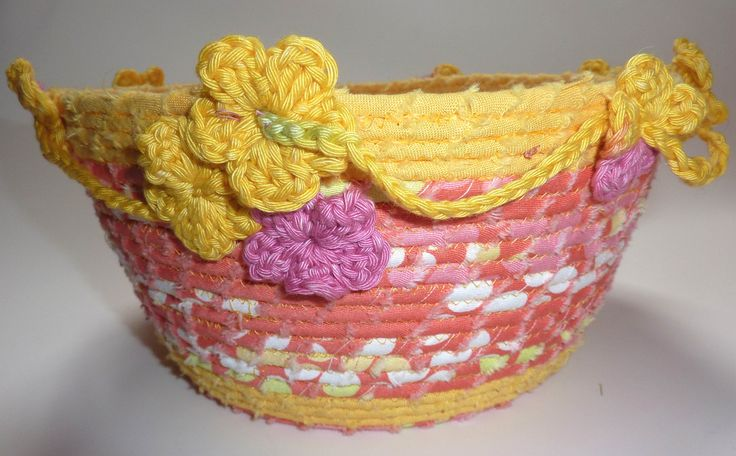 coiled fabric baskets in colourful cottons - flights of fantasy