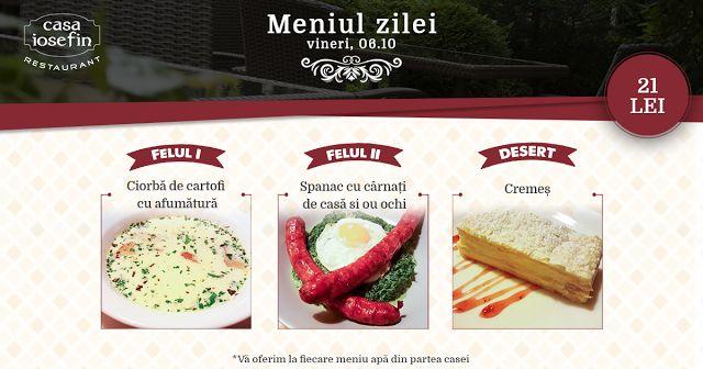Restaurant Casa Iosefin Timisoara: Meniu Zilei 06.10