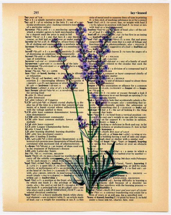 Lavender painting on a book page