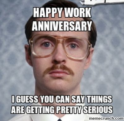 27fd93bf3bab20852083d06c2037f96e 16 best work anniversary images on pinterest work anniversary meme