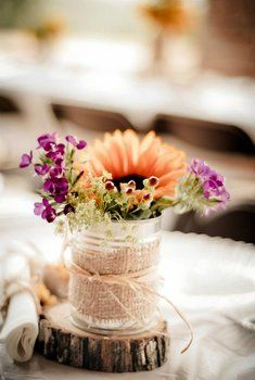 Rustic, Country Wedding center pieces