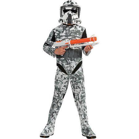 Clone Wars ARF Trooper Child Halloween Costume, Boy's, Size: Small, White