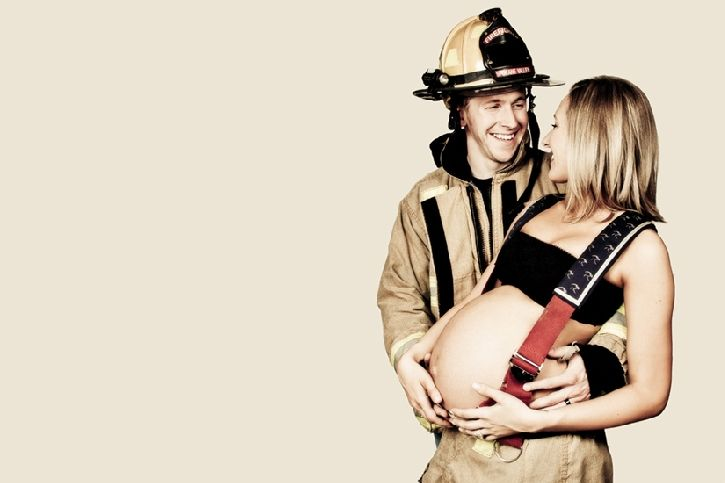 maternity eventually only he not be fire fighter he be soldier, next baby I promise
