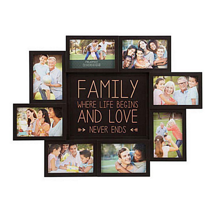 Picture Collage Maker Multiple Frame Frames Family 4x6 Words Holder For Wall New #Melannco