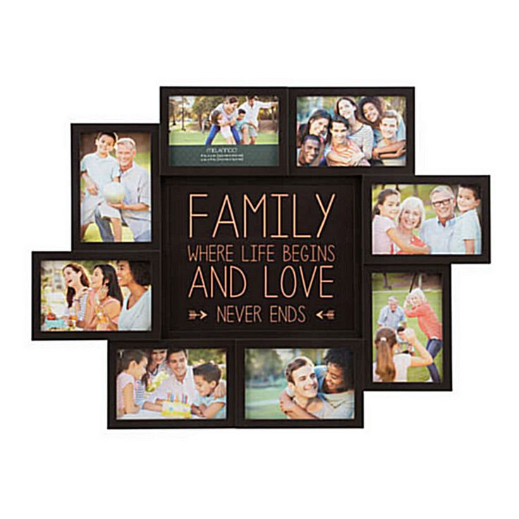 Picture Collage Maker Multiple Frame Frames Family 4x6 Words Holder For Wall New #Melannco