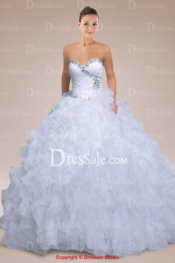 Eye-poping Sweetheart Neckline Quinceanera Dress Featuring Beading and Ruffled Organza