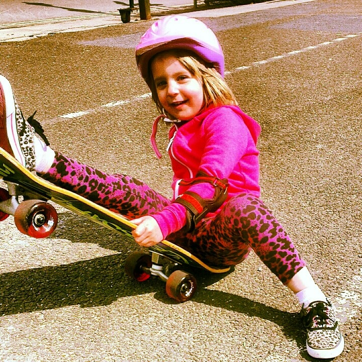 Honey busting a trick on worthing seafront with her New mindless 70mm Longboard wheels. Sunday 28th april 2013.A great day skateboarding :0)