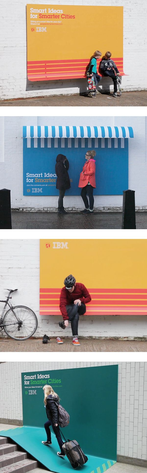 IBM's Smarter Cities Billboard Campaign #advertising #billboard #creative