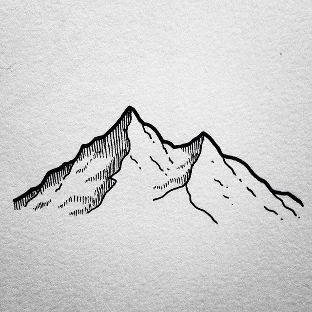 25 best ideas about mountain drawing on pinterest for Cool easy pen drawings