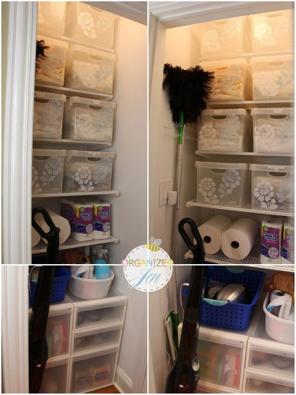 A Way To Organize The Linen Closet By Type. #linencloset #storage # Organization