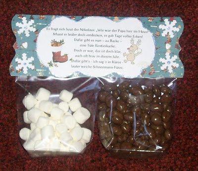 """Morgen kommt ja der Nikolaus und auf der Bastel-Elfe werden seit Tagen ganz tolle Geschenkideen gezeigt: """"Rentier-Kacke"""" und """"Schneemann-Fü..."""