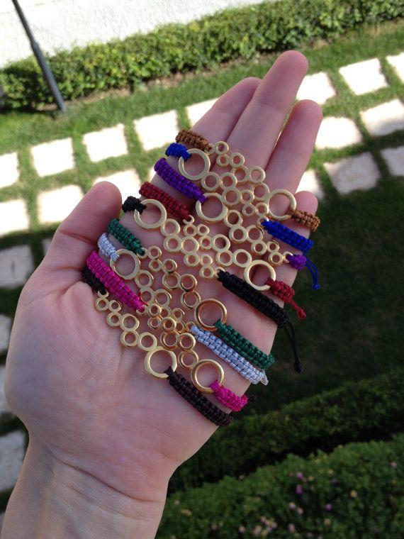 Macrame bubble bracelets by HappyDonkey on Etsy, €7.00