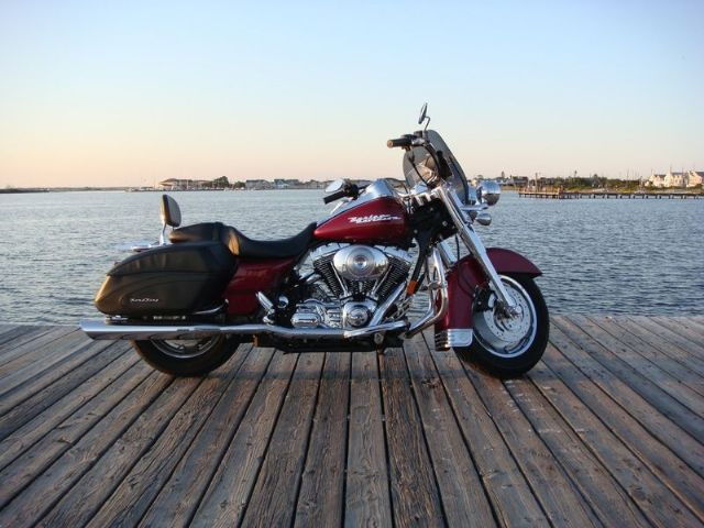 Harley Road King For Sale >> 2004 Harley-Davidson FLHRS - Road King Custom Touring , Lava Red, 9,571 miles for sale in Long ...
