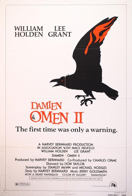 Damien Omen II 1978 Original Release Movie Poster.