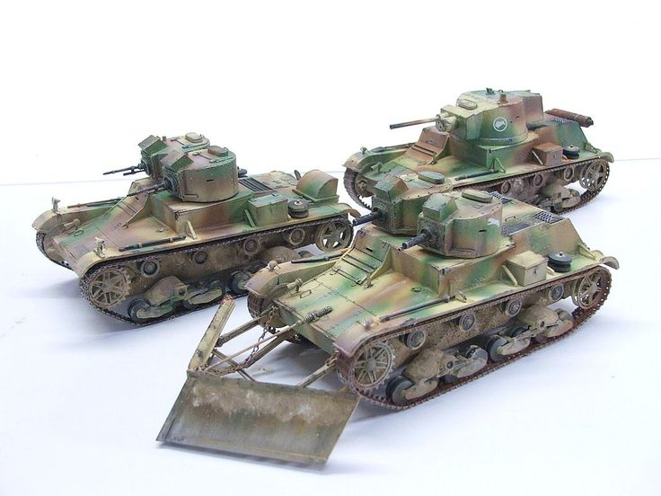 7TP dw Light Tank or Twin Turrets (1938) snow-plow.