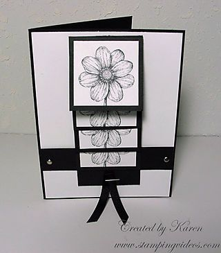 Waterfall Card---this card is still one of my favorites. A must watch Video tutorial----easier to make than it looks.