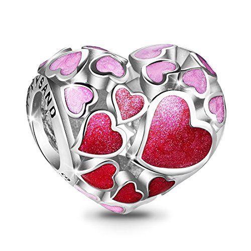 charm pandora coeur rouge