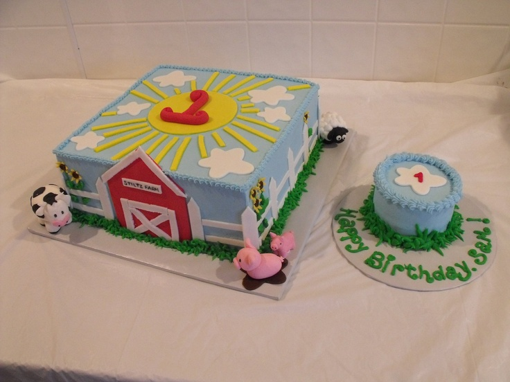 Cake Decoration Farm Theme : 17 Best images about Camden s 2nd Birthday!!! on Pinterest ...
