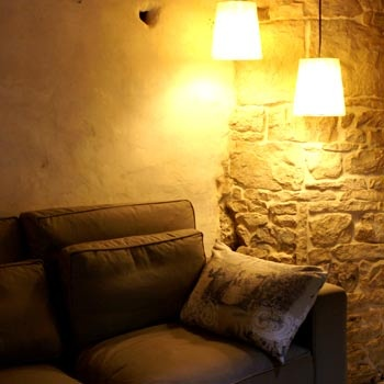Cosy corner in the 'studio' at La Grosse Talle, nice appartment for your holidays in the Poitou-Charentes (south-west France)