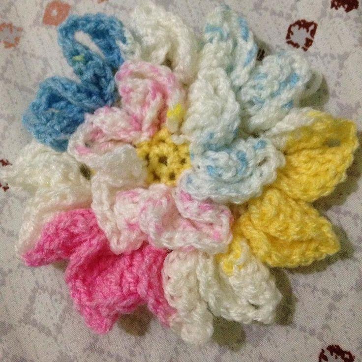 Bunga  #rajutan #rajutanindonesia #pola #rajutanindonesia #aplikasirajut #bernat #benangrajut #yarn #pattern #instacrochet #crochet #flower #bunga by khansa_umar