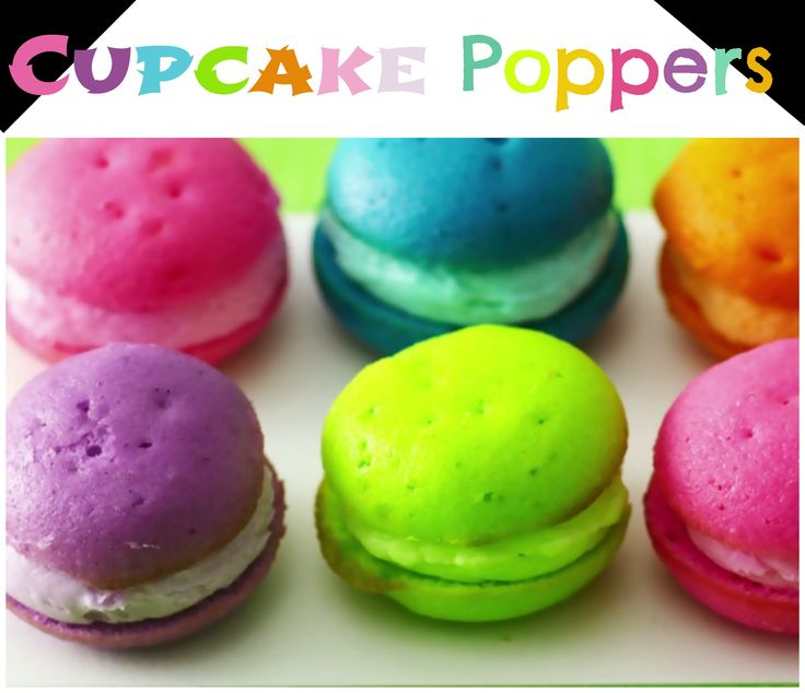 ... cupcake poppers that are a spinoff of french macaroons! // #cupcakes #