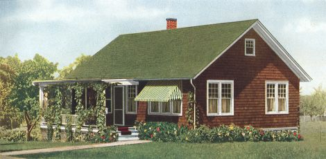 Craftsman Exterior Color Scheme: Green Stained Wood Shingle Roof On A  Brown Shingled House. Extra Color Accents Are Added By The Attractive Green  Su2026