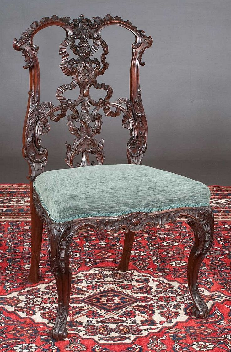 Irish Chippendale style mahogany side chair with