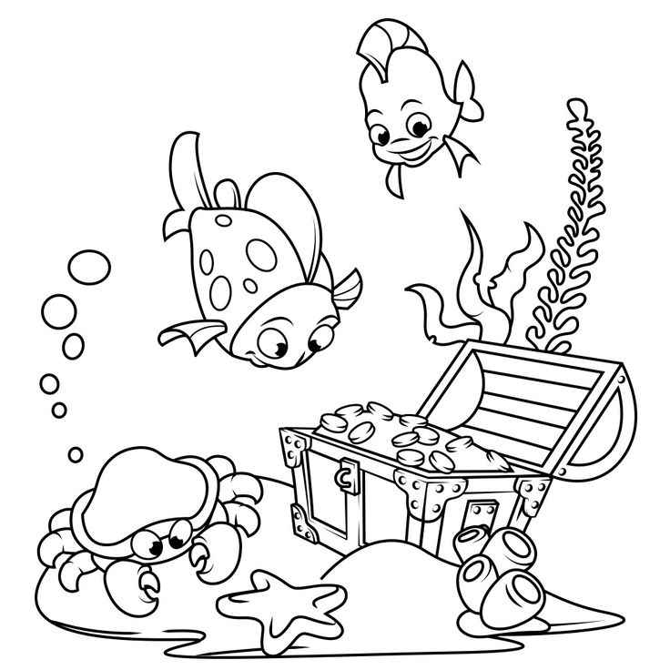 Fish Coloring Pages | Fish coloring page, Unicorn coloring ...