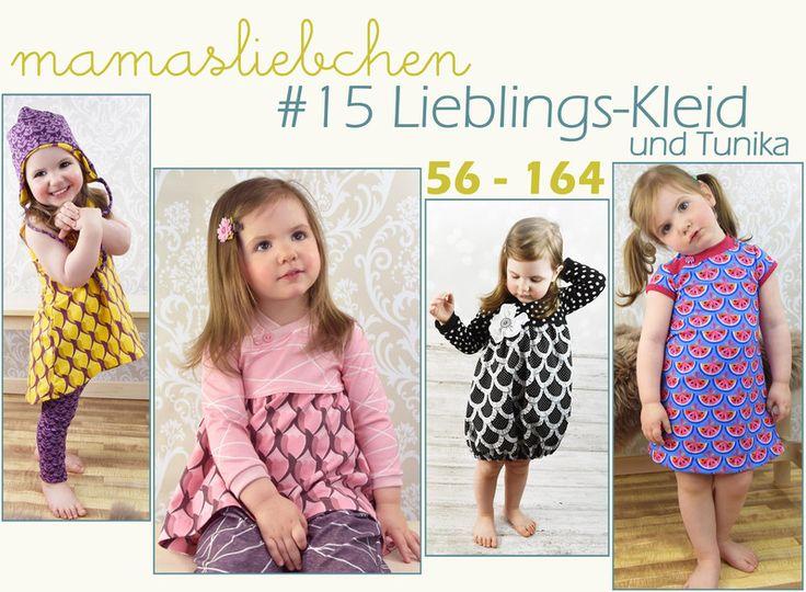 Nähanleitungen Kind - EBook E-Book #15 Lieblings-Kleid 56-164 Tunika - ein Designerstück von mamasliebchen-naeht bei DaWanda