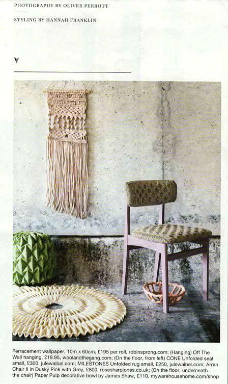 More RSW concrete wallaper featured in @warehousehome magazine