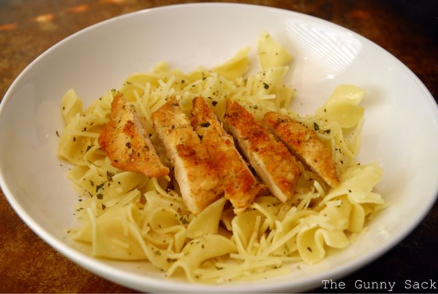 Parmesan Chicken & Buttered Noodles recipe, similar to Noodles & Co