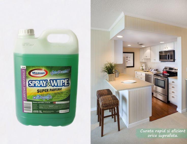 Curata eficient toate suprefetele lavabile: plastic, inox, sticla, suprafete vopsite sau acoperite de var lavabil cu http://www.produse-horeca.ro/alte-spatii/misavan-spray-wipe-5l-silk #curatenie #misavan