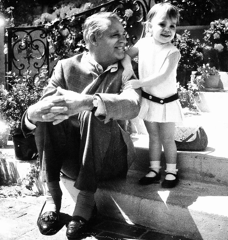 Cary Grant and his daughter Jennifer