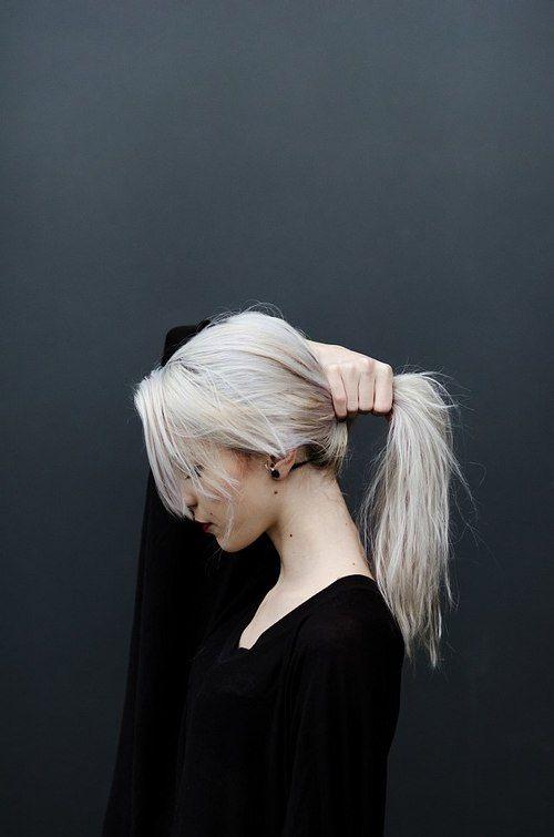 white hair... so pretty, i want it