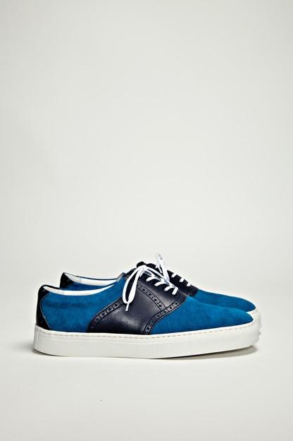 Hiroshi Tsubouchi - Saddle Sneaker Navy