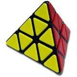 QJ Pyraminx With Plastic Tile - Black