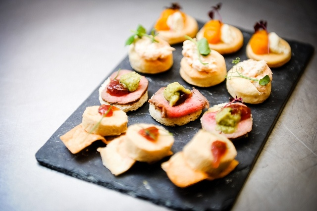 Foie gras canap s and bowl food ideas id food event for Canape food ideas