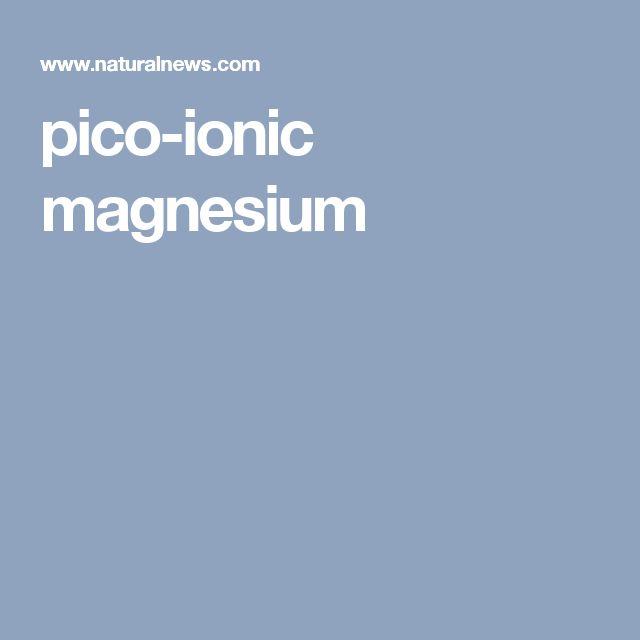 pico-ionic magnesium